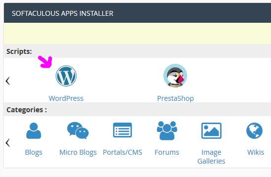comment installer wordpress sur o2switch